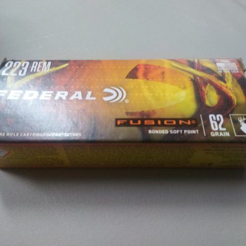 Federal Fusion 223 REM 62gr Bonded Soft Point 20 Round Box