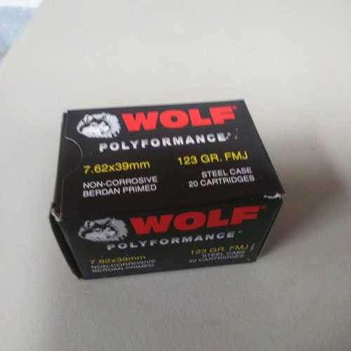 Wolf Performance 7.62x39mm 123gr FMJ Steel 20 Round Box