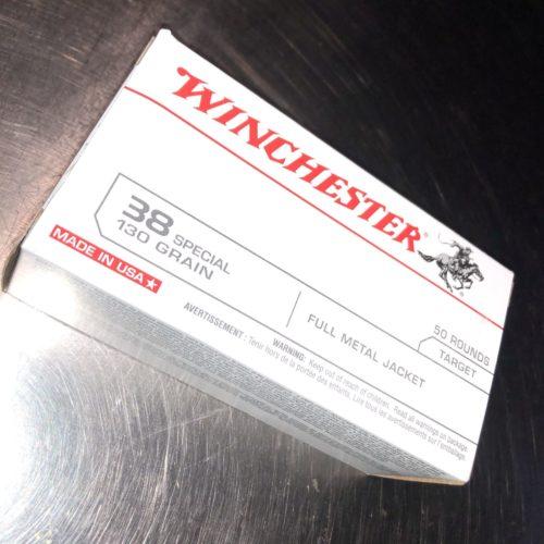"""Winchester 38 Special 130 Grain FMJ """"50 Round Box"""""""