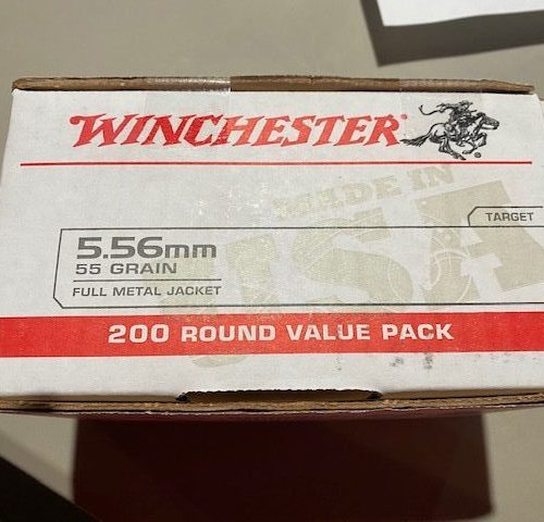 Winchester 5.56 55gr. FMJ 200 Round Value Pack Brass