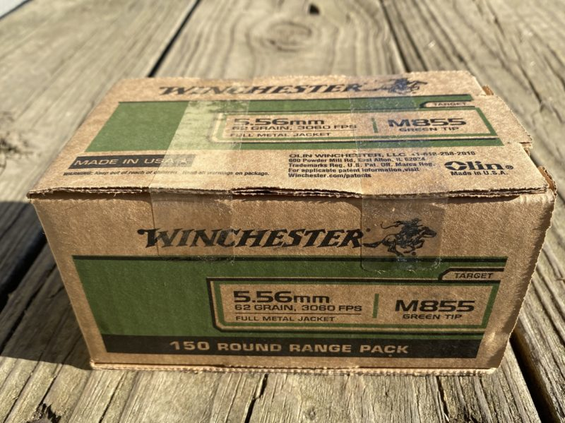 Winchester 5.56 62g FMJ M855 Green Tip *1 Box Limit*
