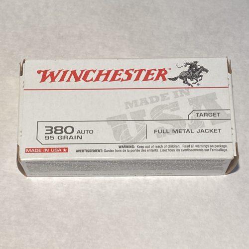 Winchester .380 Auto 95g FMJ 50 Round Box
