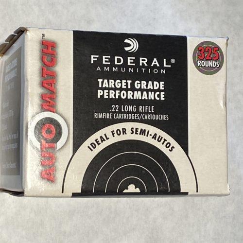 Federal .22LR 40g Solid Auto Match 325 Round Box