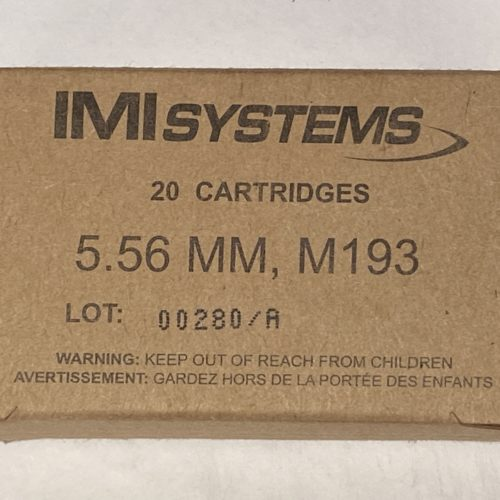 IMI 5.56mm M193 55g 20 round box