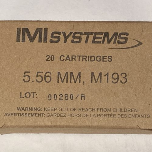 IMI 5.56mm M193 55g 20 round box