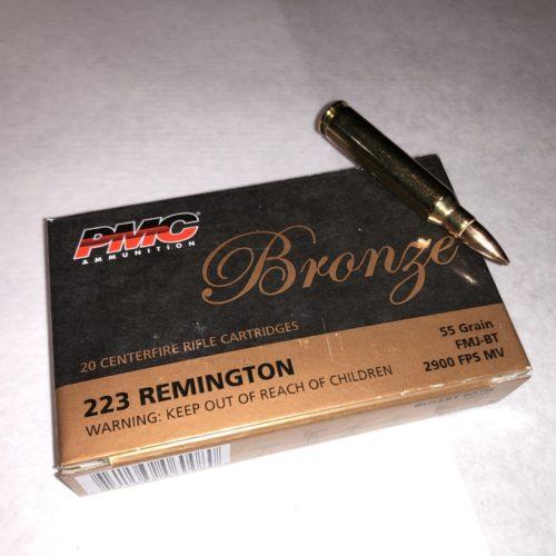 PMC Bronze .223 REM 55g FMJ BT 20 round box