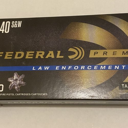 Federal Premium Law Enforcement .40 S&W, 165 Grain, *50 Rounds*
