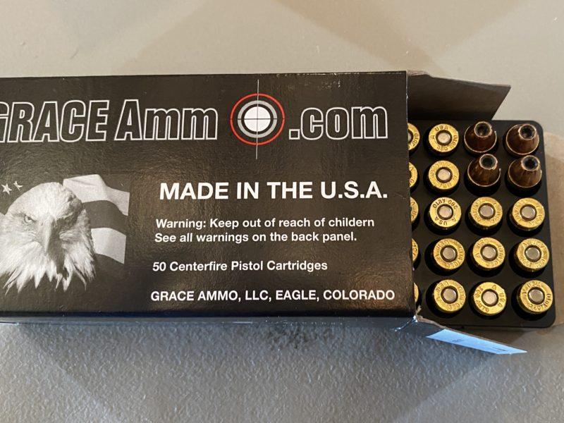.380 ACP 90g Hornady XTP 50 rounds by Grace Ammo