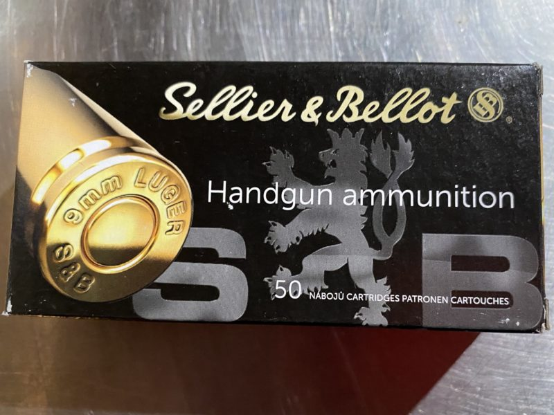 S&B 9MM Luger 115g FMJ 50 Rounds