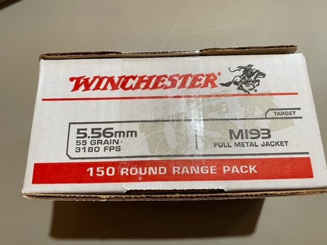 Winchester 5.56 55gr. FMJ 150 Round Value Pack Brass